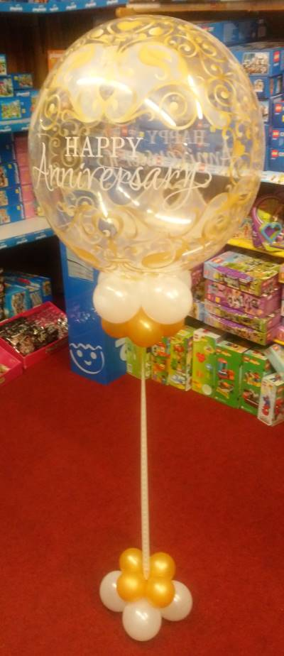Single Bubble Balloon Centre Piece