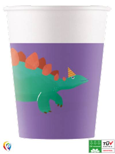 Dino Roar Compostable Paper Cups