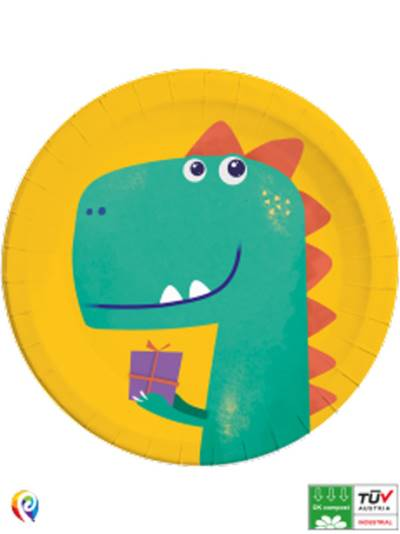 Dino Roar Compostable Paper Plates