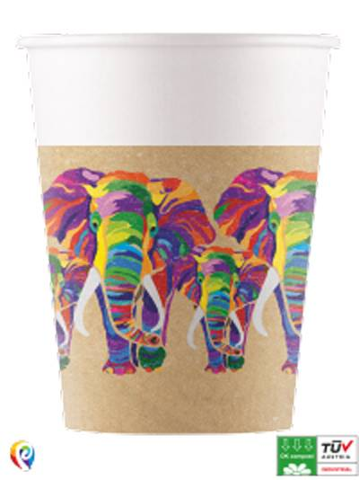 Elephant Compostable Paper Cups