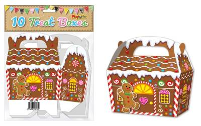 Gingerbread House 10 Treat Boxes