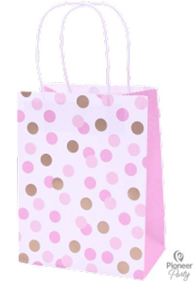 Pink Dot Paper Party Bag each
