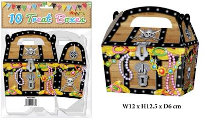 Pirate Chest 10 Treat Boxes