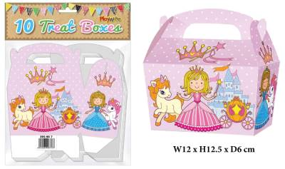 Princess 10 Treat Boxes