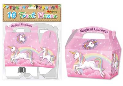 Unicorn 10 Treat Boxes